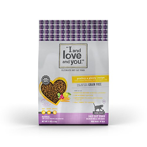 I and love and you, Nude Food Cat Food, Grain Free Natural Kibble, Poultry a Plenty, 5Lb (Fruit And Plenty compare prices)
