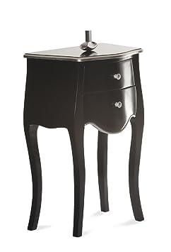 Kommode Pomp Sit Mahagoni + MDF schwarz mit silber abgesetzt