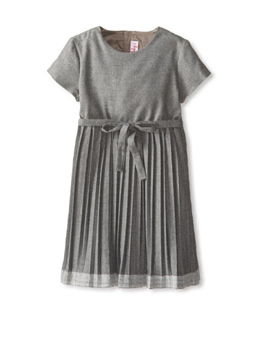 Il Gufo Kid's Pleat Dress with Tie