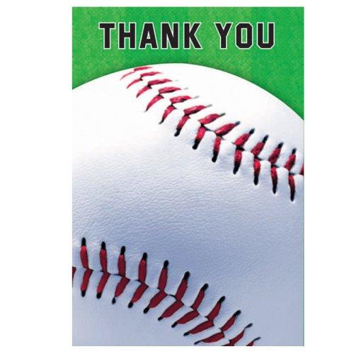 Amscan Baseball Thank Yous - 8 ct
