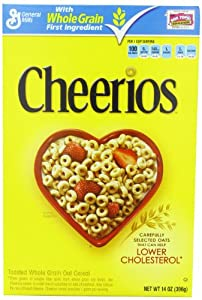 Cheerios Toasted Whole Grain Oat Cereal 14 oz