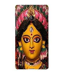 Fuson 3D Printed Lord Durga Designer Back Case Cover for Microsoft Lumia 540 - D508