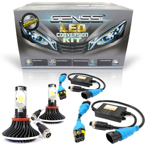 Genssi 5000K Led Kit Headlight Conversion Kit Cree Led Bulbs Hid Replacement (H11)