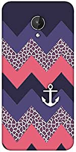 Snoogg Awesome Chevron Designer Protective Back Case Cover For Micromax Canvas Spark Q380