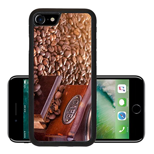 Luxlady Premium Apple iPhone 7 iPhone7 Aluminum Backplate Bumper Snap Case IMAGE 26610817 Retro manual coffee mill on roasted coffee beans (Grain Mill Back To Basics compare prices)