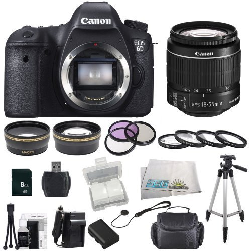 Canon Eos 60D Dslr Camera Bundle Kit With Sse Essentials Package: Featuring Canon Ef-S 18-55Mm F/3.5-5.6 Is Ii Also Includes: 0.43X Wide Angle Lens & 2.2X Telephoto Hd Lens, 3 Piece Filter Kit & 4 Piece Macro Lens Kit, Extra Lp-E6 Replacement Battery & Tr