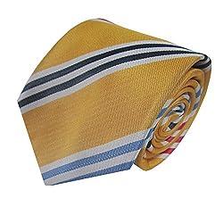 Rossini Men's Tie (UFAM95_Yellow_Free Size)