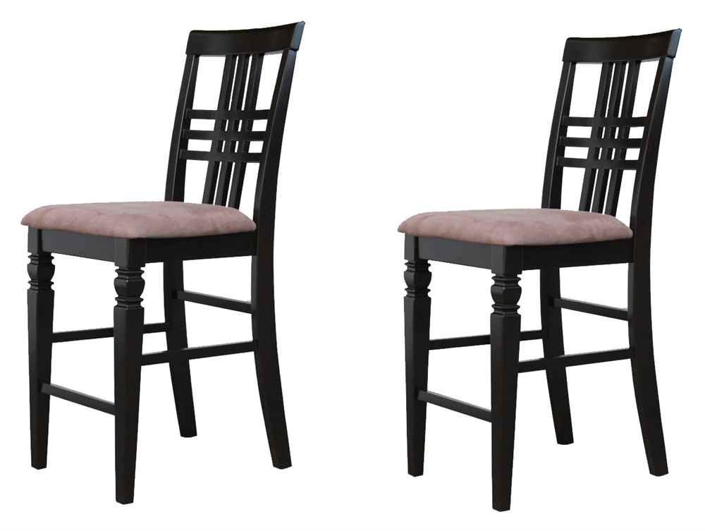 Upholstered Kitchen Counter Stool - Set of 2
