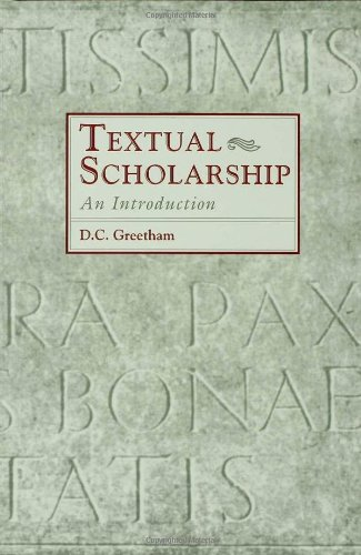 Textual Scholarship: An Introduction (Garland Reference...