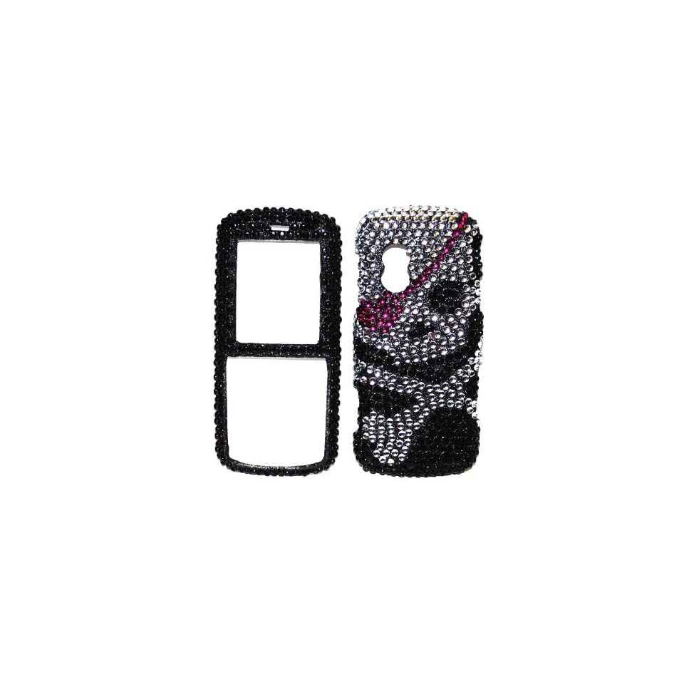 Pirate Girl / Gurl Silver Pink Black Skull Bones Cross Premium Luxury