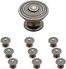 """Franklin Brass P29525K-904-B, 1-1/4"""" Hayes Kitchen Cabinet Hardware Knob, Heirloom Silver, 10 pack"""