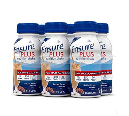 ensure-plus-nutrition-shake-butter-pecan-8-ounce-bottle-6-count-pack-of-4