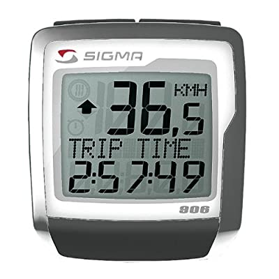 SIGMA BC906 9-Function Topline Wired Bicycle Speedometer by SIGMA