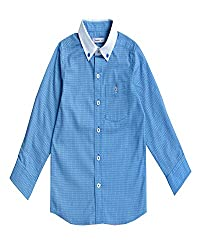 Campana Printed Blue Full Sleeve Shirt For Boys