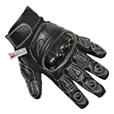 51atz1VkMjL. SL160  MOTORCYCLE BIKER GLOVES CARBON KEVLAR LEATHER BLACK M