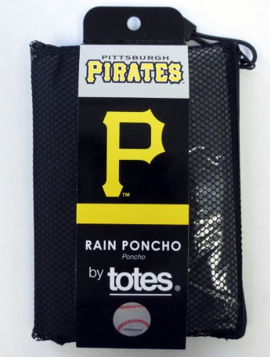 Pittsburgh Pirates MLB Black Adult Poncho