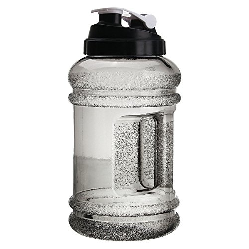 OUTERDO Sports Water Bottles 2.2 Liter BPA Free High-Capacity Water Bottles With Handle and Push Cap for Outdoor Sports Bodybuilding, Playing Basketball ,Camping Trips and to the gym (Body Building Water Bottles compare prices)