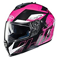 HJC IS-17 Blur Full Face Street Motorcycle Helmet (MC-8 Neon Pink, Small) by HJC
