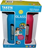 Takeya Classic Glass Water Bottle with Silicone Sleeve (2 Pack)