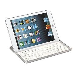 FlyStone 3 in 1 Aluminum Case and Wireless Bluetooth Ultrathin Keyboard Cover for Apple iPad 7.9 iPad mini USA (WHITE)