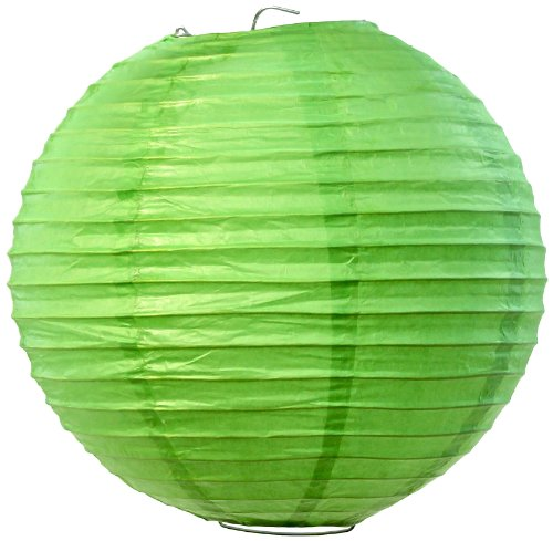 Koyal Wholesale Paper Lantern, 16-Inch, Kiwi Green, Set Of 12