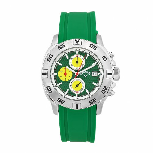 Callaway Men's CY2133 X-Series Green Rubber Chronograph Dial Watch
