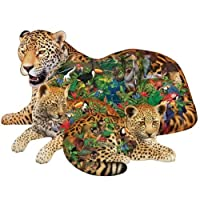 Sunsout Rainforest Jaguar Shaped Jigsaw Puzzle