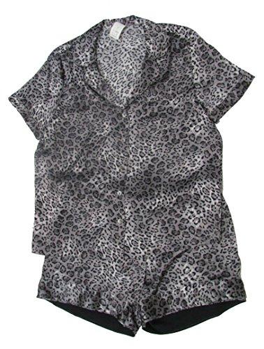 neiman-marcus-intimates-cheetah-print-grey-silk-short-pajama-set-size-xl
