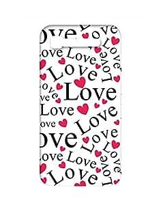 Garmor Love Art Designer Plastic Back Cover For Intex Y2 Pro