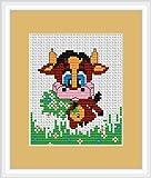 Cow Cross Stitch Kit - Luca S - Beginner 9cm x 9.5cm