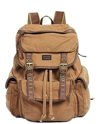 Amazon.com: Vintage Canvas Leather Travel Rucksack