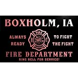 qy55141-r FIRE DEPT BOXHOLM, IA IOWA Firefighter Neon Sign Enseigne Lumineuse