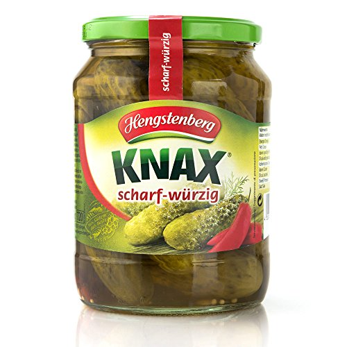 Hengstenberg KNAX Hot and Spicy Pickles, 24.3oz / 670gr (Knax Pickles compare prices)