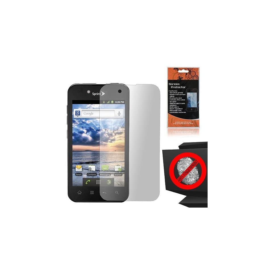 Anti Glare Screen Protector for LG Ignite 855 Marquee LS855 Sprint LG855 Boost L85C NET10 Straight Talk Optimus Black P970 L85C Majestic US855 US Cellular Cell Phones & Accessories