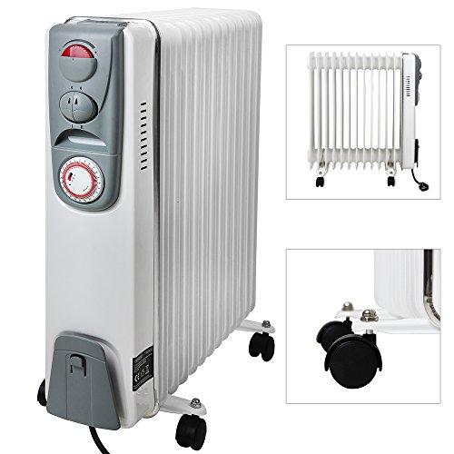 Elektrische-Heizung-l-Radiator-mit-13-Rippen-2500W-Elektroheizung-Mobil-Timer-Abschaltautomatik-stufenlose-Temperaturregelung-berhitzungsschutz