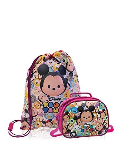 Disney Zaino + Nécessaire Tsum Tsum Pink