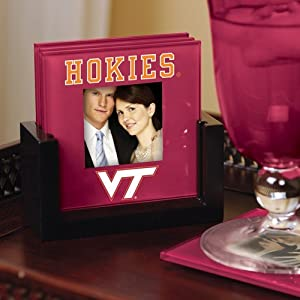 Virginia Tech Hokies Maroon 4-Pack Photo Coaster Set