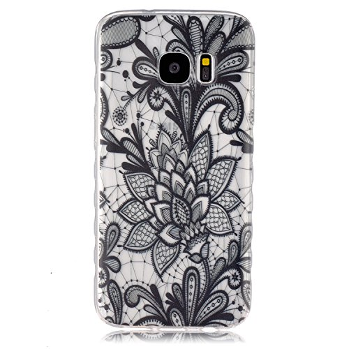 S7 Case, ESKK® Ultra Thin Slim Flexible Soft TPU Extra Grip Anti-Scratch Protective Bumper Back Cover for Samsung Galaxy S7 SM-G930 (Black Mandala) (One Direction Samsung Tab 3 Case compare prices)