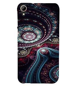 PrintVisa Ethnic Art Pattern 3D Hard Polycarbonate Designer Back Case Cover for HTC Desire 828