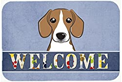 Carolines Treasures BB1425JCMT Beagle Welcome Kitchen or Bath Mat, 24 by 36 , Multicolor