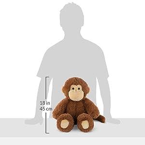 Vermont Teddy Bear Stuffed Monkey - Oh So Soft Monkey Stuffed Animal, Plush Toy, Brown, 18 Inch (Color: Monkey, Tamaño: 18 inches)
