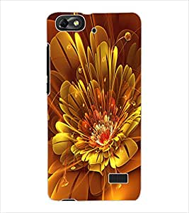ColourCraft Digital Flower Design Back Case Cover for HUAWEI HONOR 4C