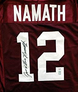 Joe Willie Namath Autographed Signed Alabama Jersey #3A94082 - PSA DNA Certified -...