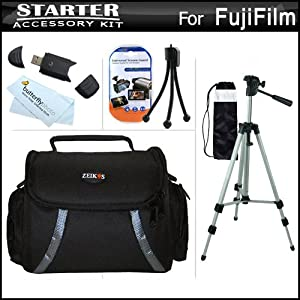 Starter Accessories Kit For Fuji Fujifilm FinePix HS30EXR, Fujifilm X-E1 SL300, S8200, S8300, S8400, S8500, S6700, S6800, S6900, S4600, S4700, S4800, SL1000, HS50EXR, X100S, X20 Digital Camera Includes Deluxe Case + 50