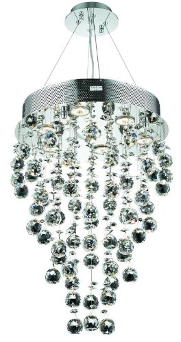 Elegant Lighting 2006D16C/SS Galaxy Collection 7-Light Hanging Fixture Strass/Elements Swarovski Crystal with Chrome Finish sale off 2016