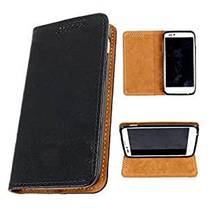 i-KitPit PU Leather Flip Case For Lava Xolo Q1000 Opus (BLACK)