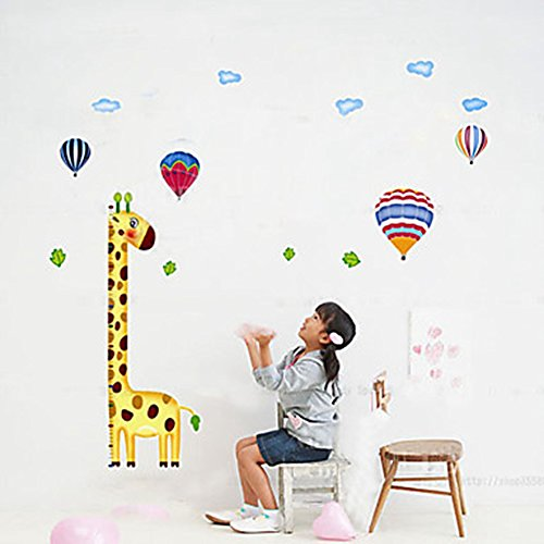 DS-1PCS Colorful Giraffe Wall Sticker for Children Measuring Height