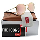Ray-Ban RB3447 Round Metal Sunglasses Matte Gold w/Pink Mirror (112/Z2) 3447 112Z2 50mm Authentic (Color: Gold, Tamaño: 50 mm)