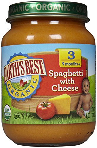 Earthsbest Spaghetti & Cheese-Junior(95% Organic), 6-Ounce (Pack of 12)