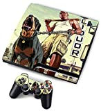 Designer Skin for Sony PS3 Slim Console System + Decals for Playstation 3 Dualshock Controller - Grand Theft Auto V